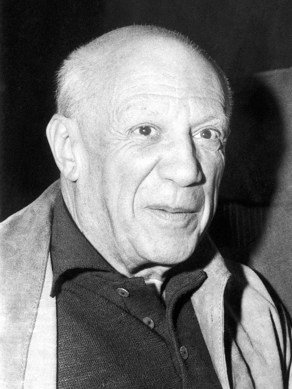 FILE - In this April 1959 file photo, Spanish artist Pablo Picasso. A major exhibition of Pablo Picasso's art in ceramics is making its U.S. debut as part of a new Iberian arts festival at the Kennedy Center in Washington. The three-week festival opening Tuesday features theater, music, dance, art, literature, design and fashion from the various cultures of Spanish- and Portuguese-speaking peoples.  (AP Photo, File)