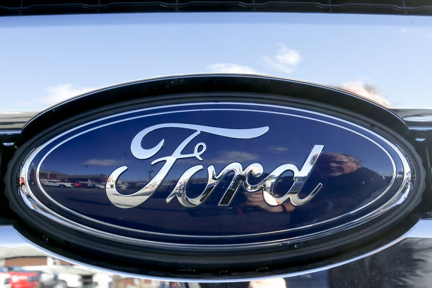 FILE - This Thursday, Nov. 19, 2015, file photo, shows the Ford badge in the grill of a pickup truck. Ford is telling owners of about 2,900 2006 Ranger pickup trucks not to drive them after discovering that a man was killed in a wreck involving an exploding Takata air bag inflator. The death occurred July 1, 2017, in West Virginia. (AP Photo/Keith Srakocic, File)
