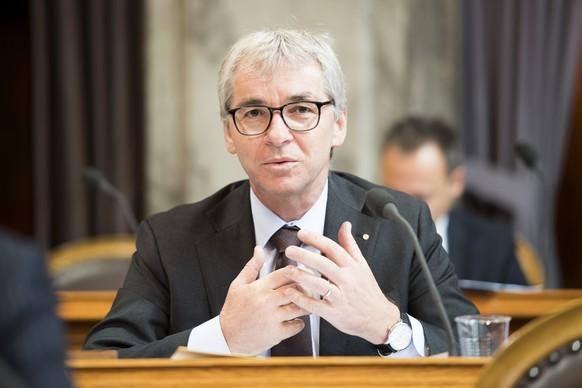 Erich Ettlin, CVP-OW, spricht an der Herbstsession der Eidgenoessischen Raete, am Dienstag, 20. September 2016 im Staenderat in Bern. (KEYSTONE/Anthony Anex)