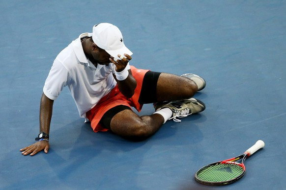 NEW YORK, NY - SEPTEMBER 05:  Donald Young of the United States celebrates after defeating  Viktor Troicki of Serbia during their Men's Singles Third Round match on Day Six of the 2015 US Open at the USTA Billie Jean King National Tennis Center on September 5, 2015 in the Flushing neighborhood of the Queens borough of New York City.  (Photo by Streeter Lecka/Getty Images)