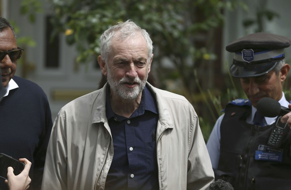 Britain's opposition Labour Party leader Jeremy Corbyn leaves his home in London, Britain June 26, 2016.     REUTERS/Neil Hall