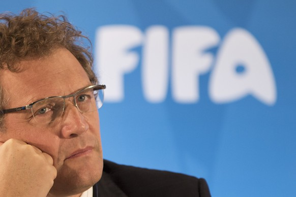 FILE -  In this Thursday, Jan. 23, 2014 file photo FIFA Secretary General Jerome Valcke listen to questions during a news conference to present the new world cup song at the Maracana stadium in Rio de Janeiro, Brazil.  FIFA ethics judges have formally opened a case against Jerome Valcke, Thursday Jan. 7, 2016 who faces a nine-year ban from football. The ethics committee's judging chamber says it