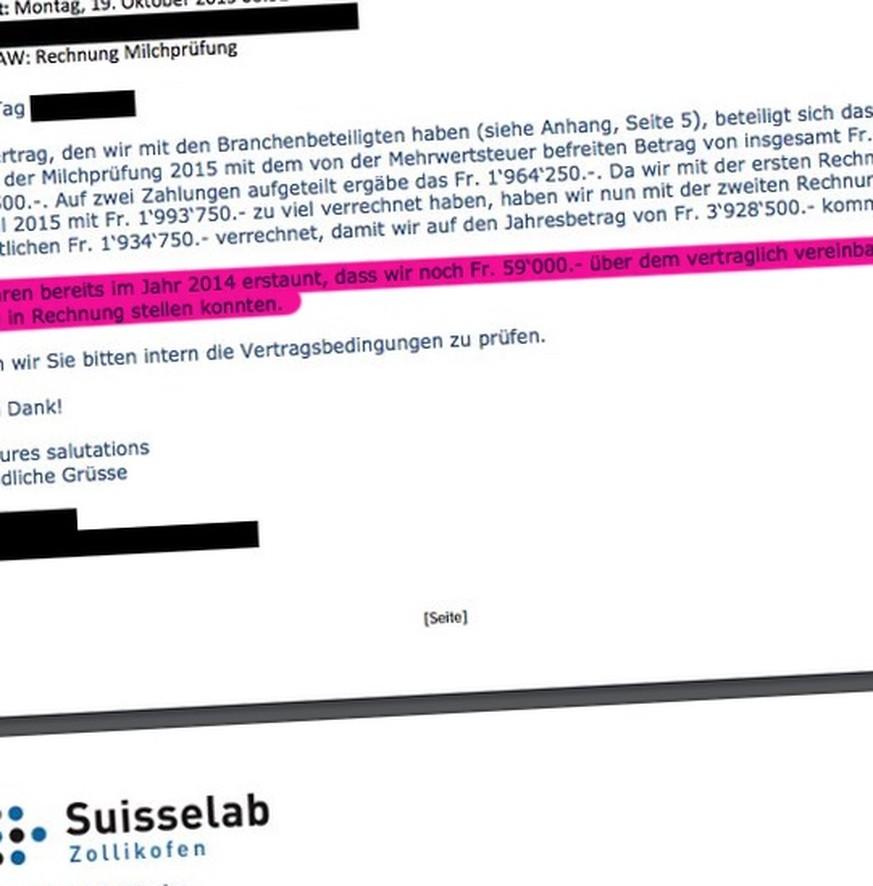 Bundesamt überweist zu viel Geld an Suisselab - watson