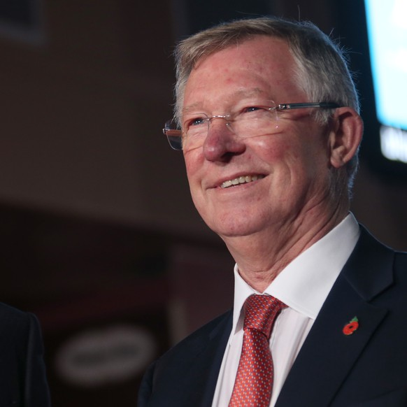 Sir Alex Ferguson, right, and Cristiano Ronaldo pose for photographers upon arrival at the world premiere of the film 'Ronaldo, in London, Monday, Nov. 9, 2015. (Photo by Joel Ryan/Invision/AP)