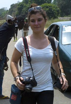 Picture taken in Damara, 70km north from Bangui, on February, 21, 2014 shows French journalist Camille Lepage. French journalist Camille Lepage, 26, has been killed while on a reporting assignment in Central African Republic, French President Francois Hollande said on May 13, 2014 in a statement, vowing to make every effort to shed light on the murder.