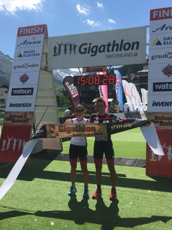 Die beiden Sieger: Nina Brenn und Stefan Graf.