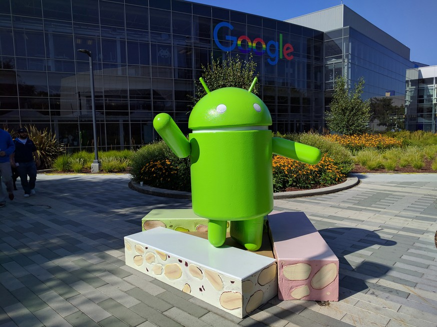 This photo provided by Google shows the Android Nougat statue, officially unveiled Thursday, June 30, 2016, at Google campus in Mountain View, Calif. The next version of Android software dubbed
