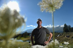 CRANS-MONTANA, SWITZERLAND - SEPTEMBER 02:  Romain Wattel of France poses for a picture during practice prior to the start of the Omega European Masters at Crans-sur-Sierre Golf Club on September 2, 2014 in Crans-Montana, Switzerland.  (Photo by Stuart Franklin/Getty Images)