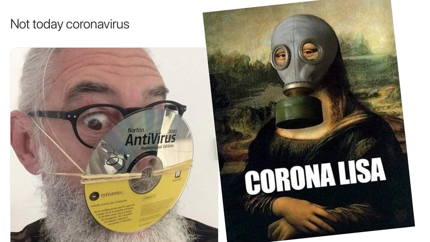 Corona Witzige Bilder