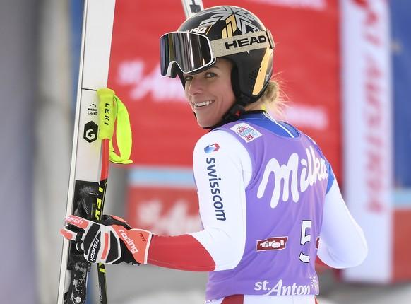 <strong>Super-G Frauen:</strong> Lara Gut-Behrami feiert am <strong>10. Januar 2021</strong> in St. Anton ihren 27. Weltcupsieg.