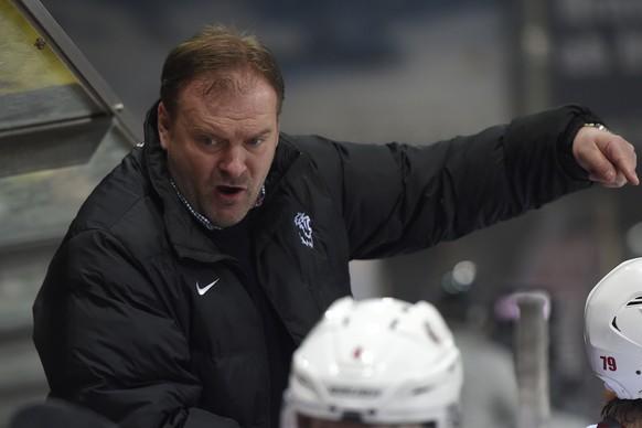 21.02.2015; Biel; Eishockey NLA - EHC Biel - Lausanne HC; Trainer Heinz Ehlers (Lausanne)(Urs Lindt/freshfocus)