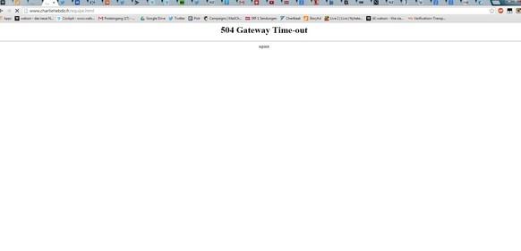 charlie hebdo website down