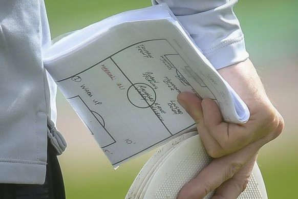 Fee £75 for online and £150 for print  England number 2 Steve holland with the team notes Members of the England football squad train at the Stadium Spartak Zelenogorsk in Repino near St Petersburg, Russia during the Fifa 2018 World Cup.  Gareth Southgate's notes suggest Raheem Sterling will be dropped for England's World Cup 2018 clash against Panama