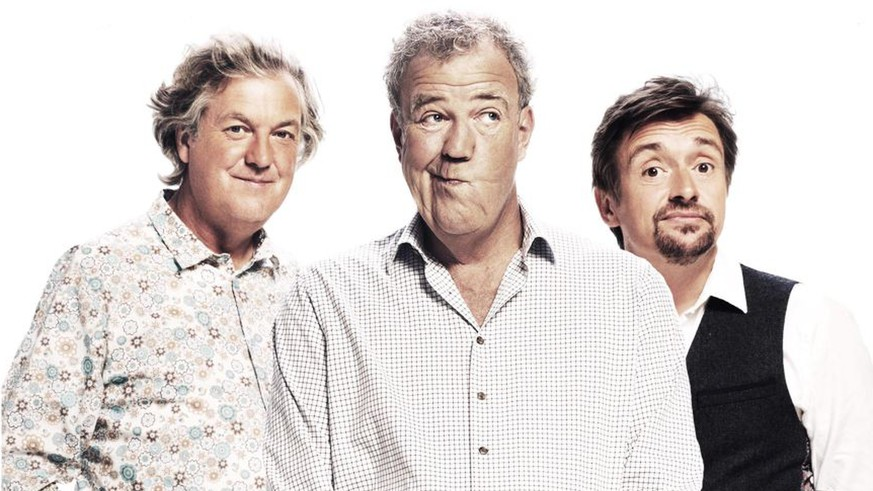 the grand tour james may jeremy clarkson richard hammond top gear http://www.digitalspy.com/tv/the-grand-tour/news/a801612/see-the-first-studio-photos-from-the-grand-tour-set/