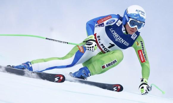 Alpine Skiing - FIS Alpine Skiing World Championships - Women's Super G - St. Moritz, Switzerland - 8/02/17 -  Ilka Stuhec of Slovenia in action. REUTERS/Dominic Ebenbichler