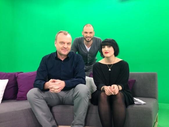 Hansi Voigt, Chregi und Lina Selmani bei Joiz.