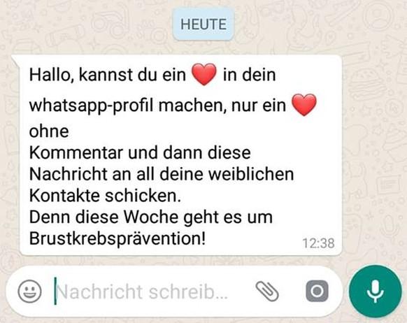 Kettenbrief liebes Whatsapp kettenbrief