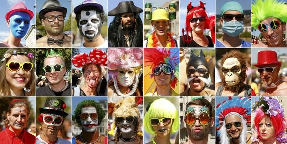 Die Gesichter der diesjährigen Street Parade.