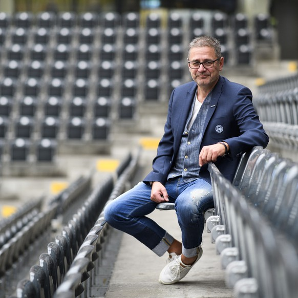 Portrait vom CEO des SC Bern, Marc Luethi, am Montag, 13. August 2018, in der PostFinance Arena in Bern. (KEYSTONE/Anthony Anex)