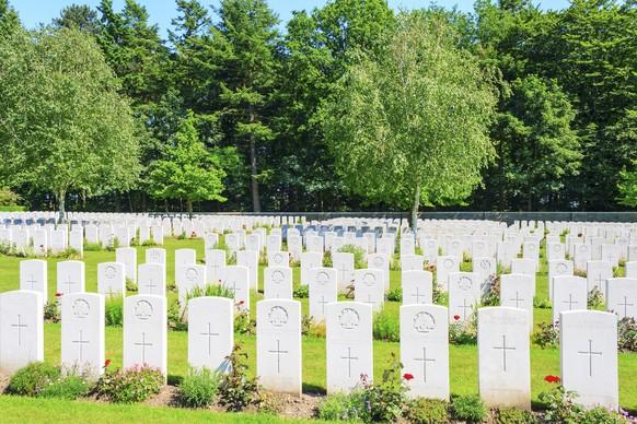 Erster Weltkrieg Britischer Soldatenfriedhof in Flandern