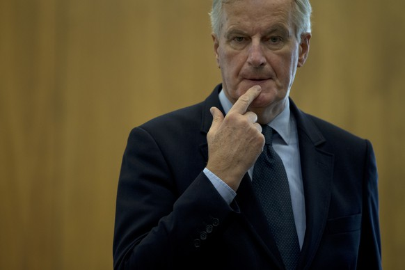 EU chief Brexit negotiator Michel Barnier prior to a weekly meeting at the European Commission headquarters in Brussels Wednesday Oct. 10 2018. Brexit negotiations are in a crucial phase just one week ahead of an EU summit where major progress is need