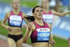 Zuzana Hejnova from the Czech Republic competes in the women's 400m hurdles race, during the Weltklasse IAAF Diamond League international athletics meeting in the Letzigrund stadium in Zurich, Switzerland, Thursday, August 29, 2013. (KEYSTONE/Walter Bieri)