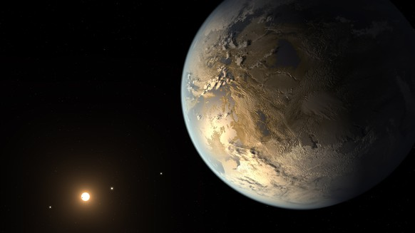 epa07131943 An undated handout photo made available by NASA on 30 October 2018 shows an artist's concept of exoplanet Kepler-186f, first Earth-size planet in the habitable zone. Kepler-186f, a planet with a radius similar to Earth's, was detected by NASA's Kepler Space Telescope in April 2014. NASA announced on 30 October 2018, that the Kepler spacecraft has run out of fuel and is being retired within its current and safe orbit, away from Earth. Kepler leaves a legacy of more than 2,600 exoplanet discoveries. The space observatory was launched in March 2009 into an Earth-trailing heliocentric orbit.  EPA/NASA/JPL-CALTECH/T. PYLE HANDOUT  HANDOUT EDITORIAL USE ONLY/NO SALES