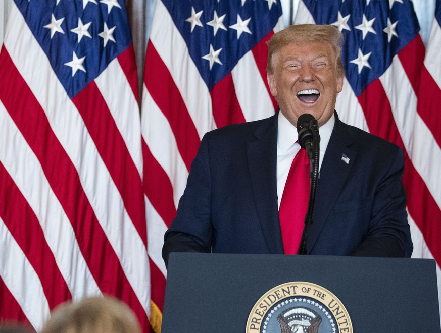 President Donald Trump smiles as he speaks during an event to present the Presidential Medal of Freedom to Jim Ryun, in the Blue Room of the White House, Friday, July 24, 2020, in Washington. (AP Photo/Alex Brandon) Donald Trump,Jim Ryun