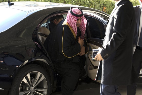 FILE In this Monday, Jan.6, 2020 file photo, Saudi Deputy Minister of Defense Khalid bin Salman Al Saud arrives for a private meeting with Secretary of State Mike Pompeo at the Department of State in Washington. The United States' Gulf allies have pushed for hawkish policies by Washington to pressure, isolate and cripple Iran, but this high-stakes strategy is now being put to the test by the surprise U.S. killing of Iran's most powerful military commander. As the region braces for what comes next, Saudi Arabia and the UAE are calling for de-escalation. (AP Photo/Jose Luis Magana, File) Khalid bin Salman Al Saud