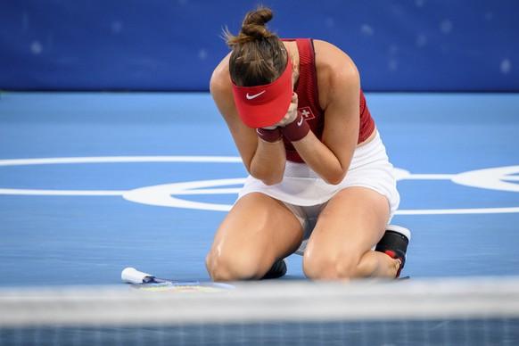 Es ist geschafft! Belinda Bencic zieht in den Olympiafinal ein und spielt um Gold.