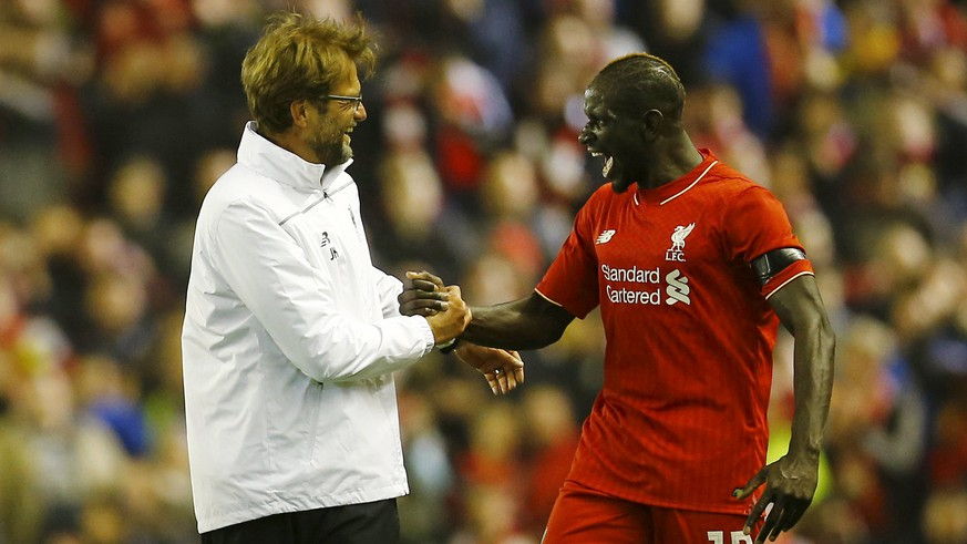 Football Soccer - Liverpool v Borussia Dortmund - UEFA Europa League Quarter Final Second Leg - Anfield, Liverpool, England - 14/4/16Liverpool's Mamadou Sakho and Manager Juergen Klopp celebrate after winning the matchReuters / Darren Staples/FilesLivepicEDITORIAL USE ONLY.