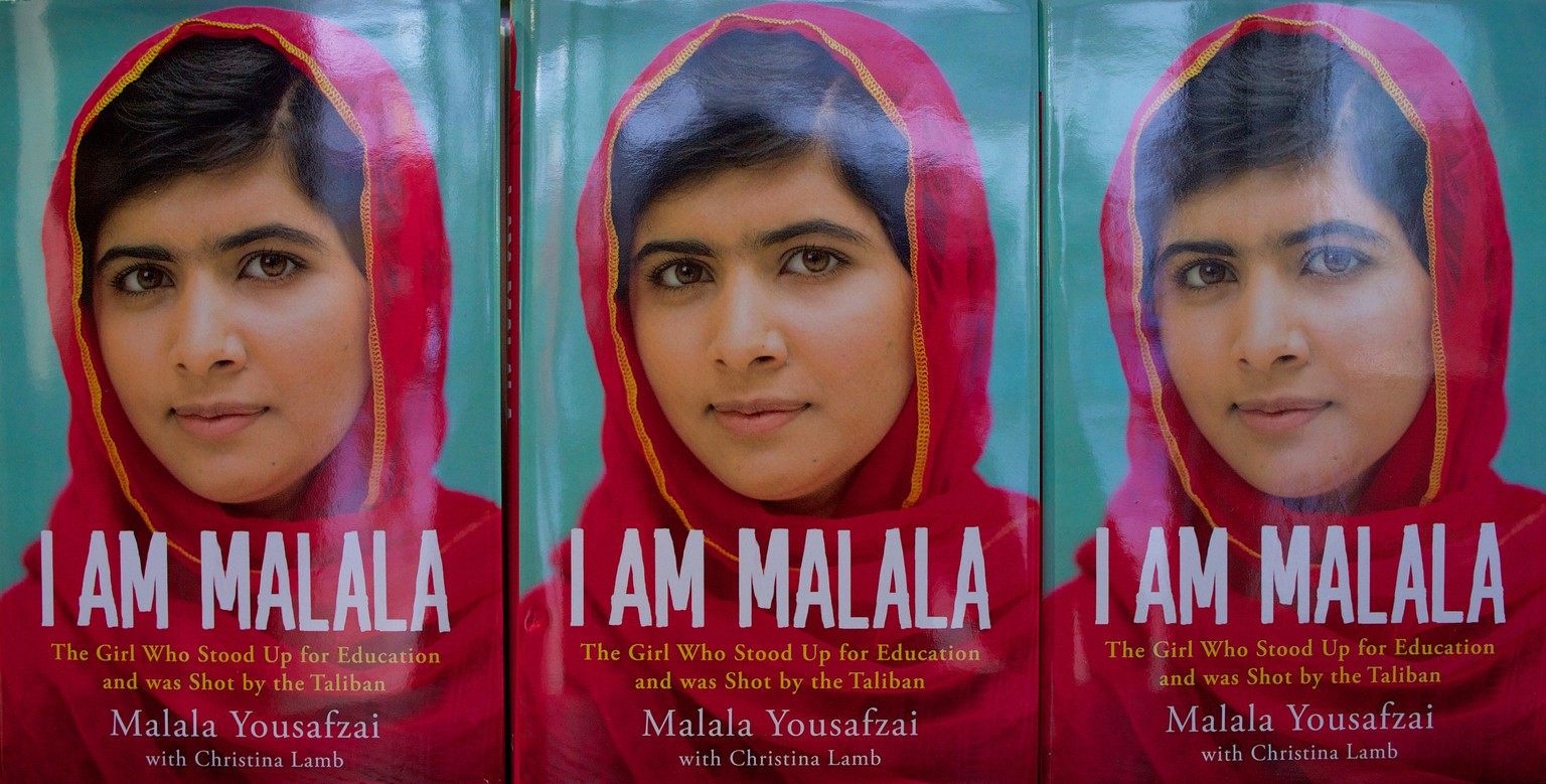 Copies of an autobiography by Pakistani schoolgirl Malala Yousafzai, entitled 'I am Malala' are pictured in a book store in London, on October 8, 2013. Co-written with British journalist Christina Lamb,