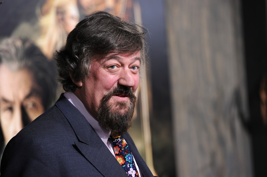 Actor Stephen Fry arrives for the Los Angeles premiere of The Hobbit: The Desolation of Smaug,