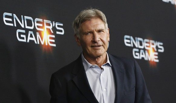 Cast member Harrison Ford poses at the premiere of