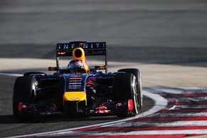 BAHRAIN, BAHRAIN - MARCH 02:  Sebastian Vettel of Germany and Infiniti Red Bull Racing drives during day four of Formula One Winter Testing at the Bahrain International Circuit on March 2, 2014 in Bahrain, Bahrain.  (Photo by Mark Thompson/Getty Images)
