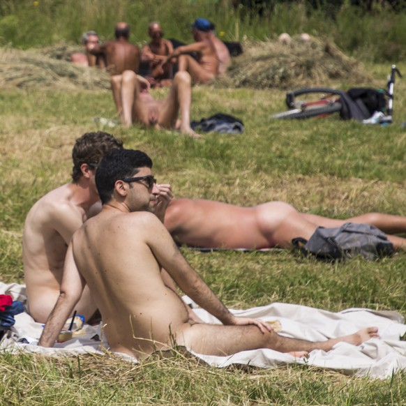 epa06836149 A group of naked people take a sunbath at the Paris naturist open space located in Paris, France, 24 June 2018. The nudist area of Paris located in the 'Bois de Vincennes' is open during the summer days between the 04 april to the 24 October.  EPA/CHRISTOPHE PETIT TESSON