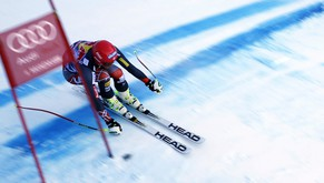 Bode Miller of United States competes during an alpine ski men's World Cup downhill training, in Kitzbuehel, Austria, Thursday, Jan. 23, 2014. (AP Photo/Shinichiro Tanaka)