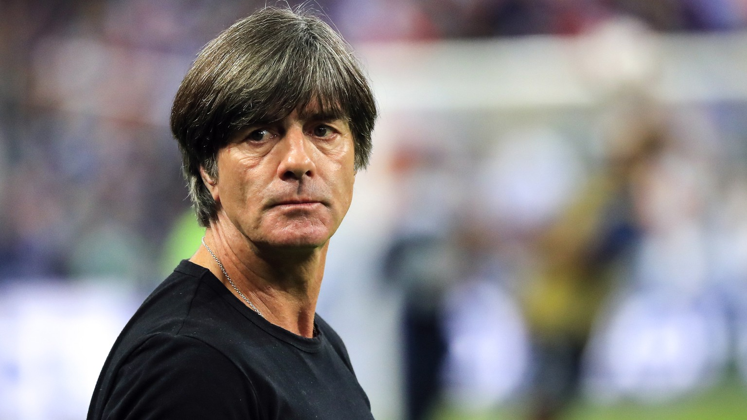 epa07098056 German's head coach Joachim Loew prior the UEFA Nations League soccer match between France and Germany in Paris, France on 16 October 2018.  EPA/Christophe Petit-Tesson