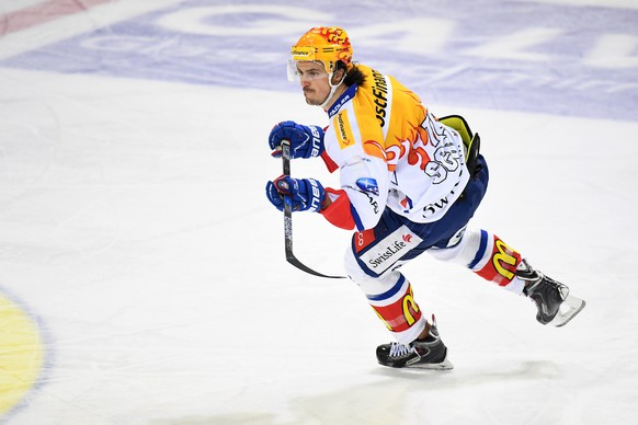 Zurich's Topscorer Roman Wick during the fourth leg of the Playoffs quarterfinals game of National League A (NLA) Swiss Championship between Switzerland's HC Lugano and ZSC Lions, on Saturday, March 11, 2017, in the Resega Stadium in Lugano. (PPR/Ti-Press/Gabriele Putzu)