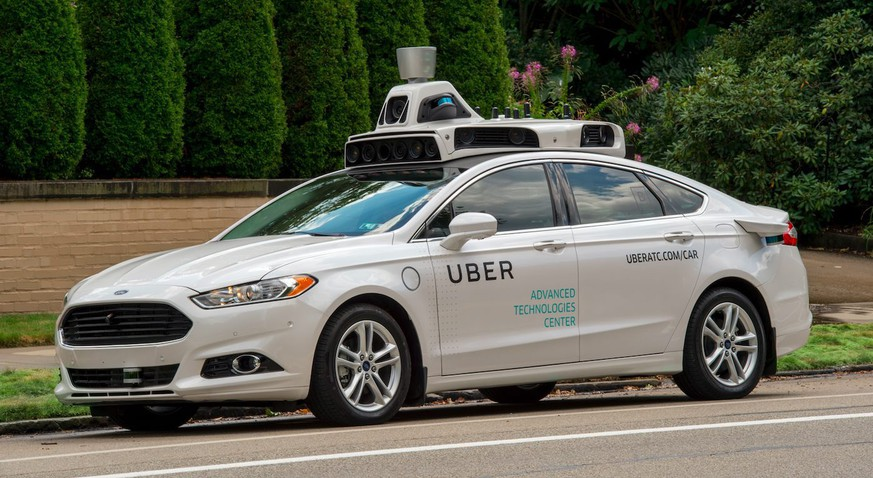 epa05540025 An undated handout photo provided by Uber on 14 September 2016 shows an Uber self-driving car, in Pittsburgh, Pennsylvania, USA. The online ride-sharing and transportation company announced on 14 September 2016 that the world's first Self-Driving Uber is in circulation on the roads in Pittsburgh as part of an initial trial. The Slef-Driving Ubers will have a safety driver in the front seat because the cars still require human intervention in certain conditions, including bad weather.  EPA/UBER / HANDOUT MANDATORY CREDIT: UBER HANDOUT EDITORIAL USE ONLY/NO SALES