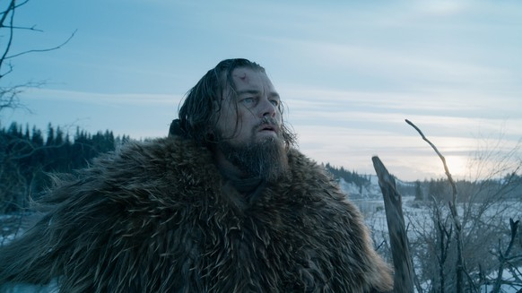"This photo provided by courtesy of  Twentieth Century Fox shows, Leonardo DiCaprio as Hugh Glass, in a scene from the film, ""The Revenant,"" directed by Alejandro Gonzalez Inarritu. The 88th annual Academy Awards nominations will be announced beginning at 5:30 a.m. PST on Thursday, Jan. 14, 2016, at the Academy of Motion Picture Arts and Sciences in Beverly Hills, Calif.  The Oscars will be presented on Feb. 28, 2016, in Los Angeles. (Courtesy Twentieth Century Fox via AP)"